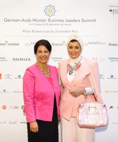 181016ga 1112 - GAWBL-Summit 2018   Aisha Alfardan - Dr Gabi Kratochwil   01